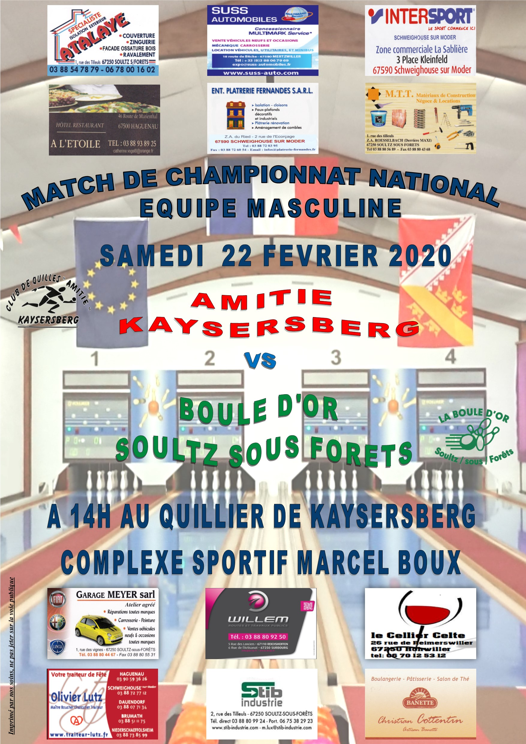 AFFICHE NATIONAL KB exterieur