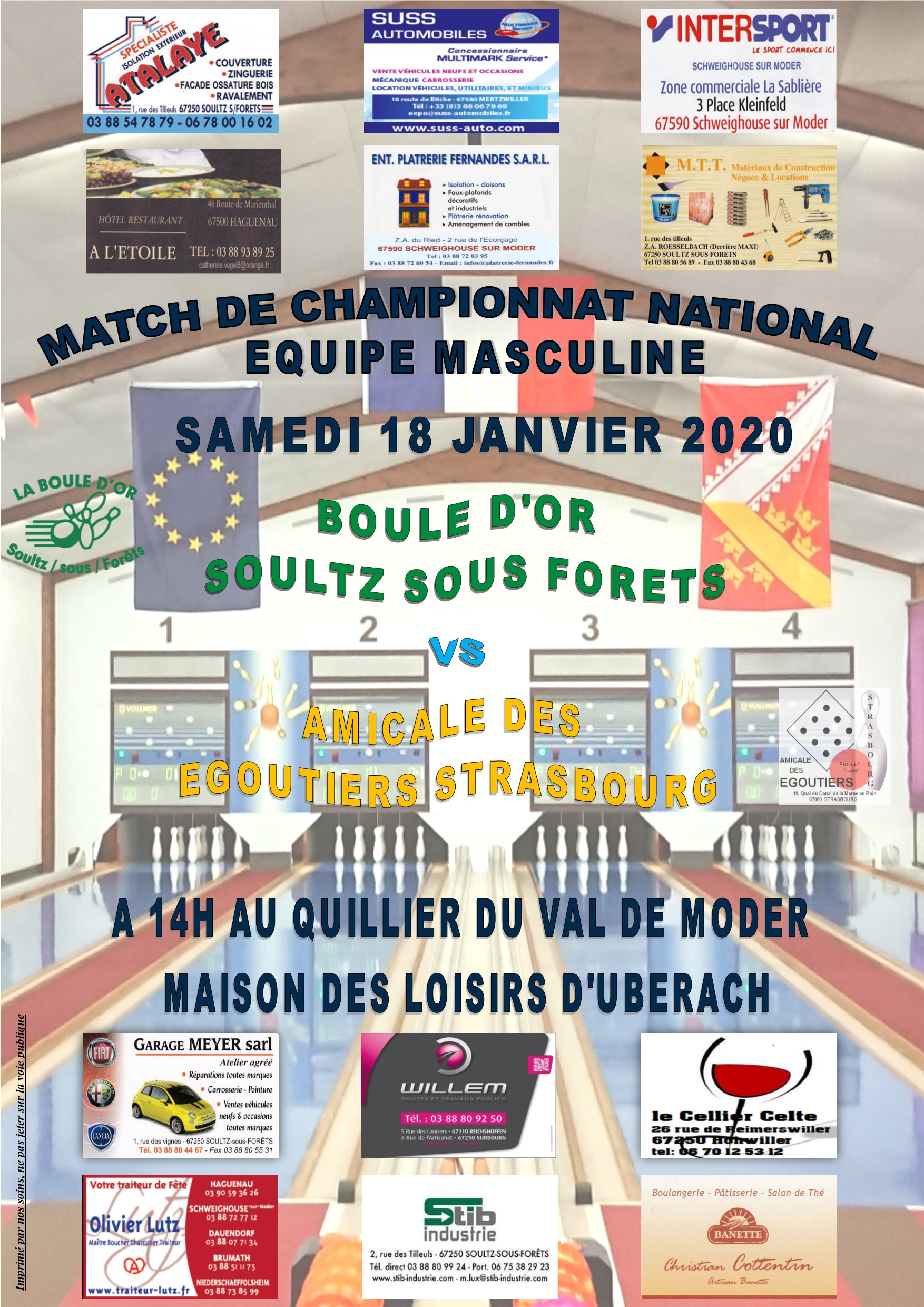 AFFICHE NATIONAL AMICAL EGOUTIERS domicile