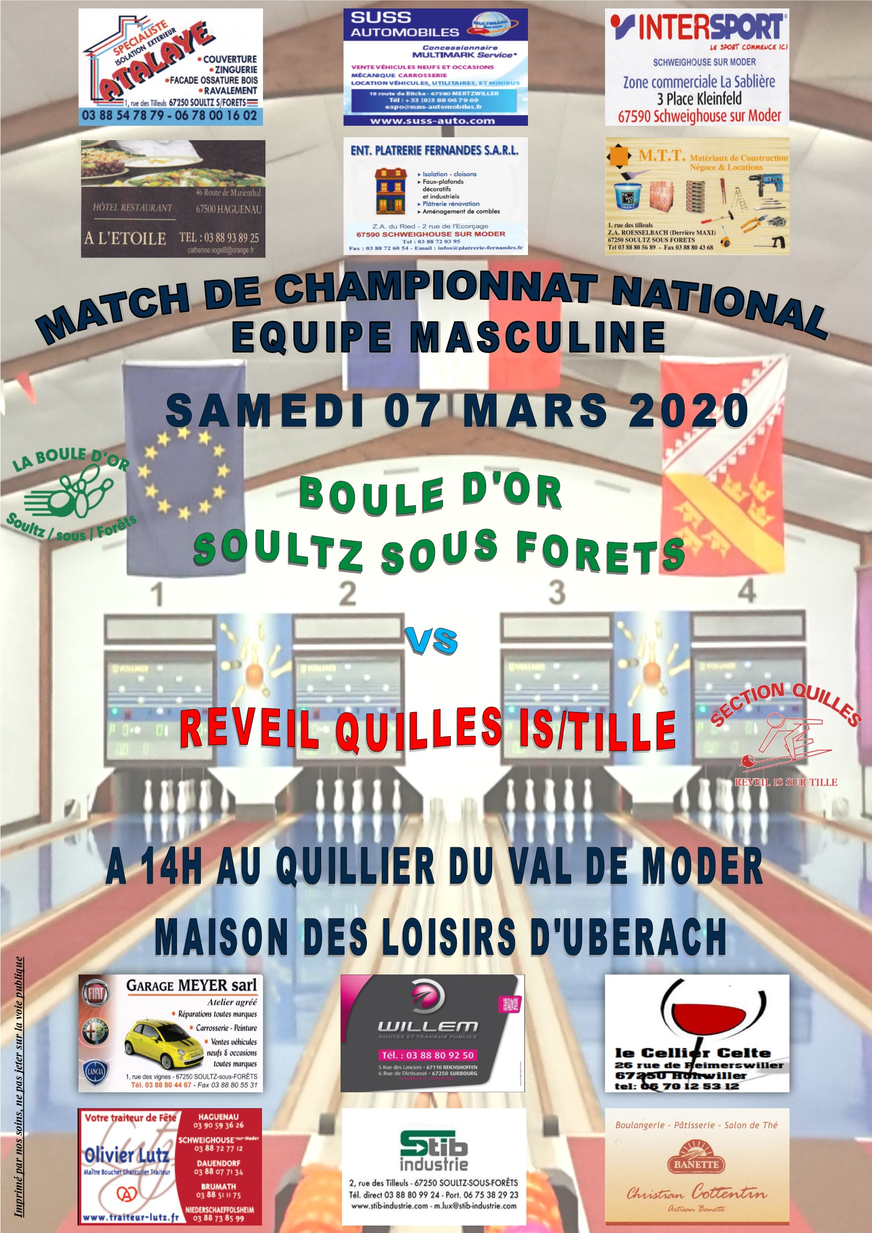 AFFICHE NATIONAL IS SUR TILLE domicile